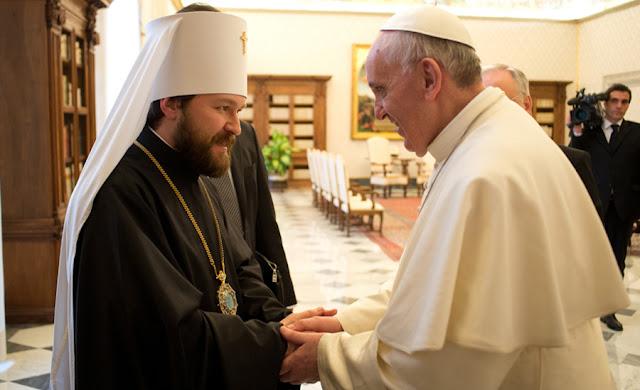 Avanza el plan de unidad de Francisco tras el encuentro con Cirilo Papa-hilarion