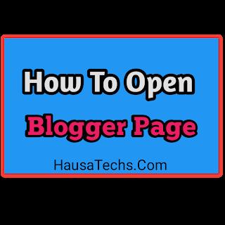 Yadda zaka bude page a blogger