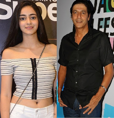 chunky pandey with daughter