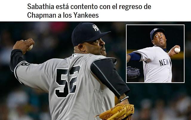 Chapman acordó un pacto por cinco años y US$86 millones con los Yankees que incluye una cláusula que le permite salirse de su contrato después de la tercera temporada.