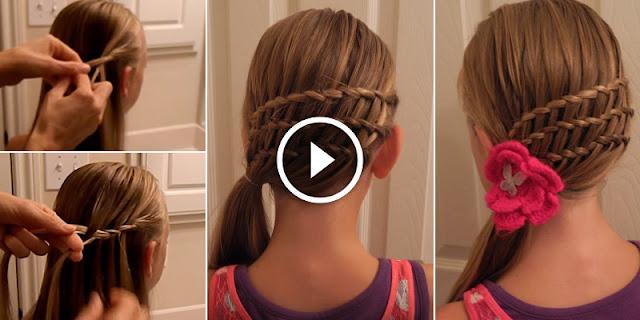 Learn - How To Create Triple Waterfall Twist Hairstyle, See Tutorial