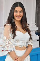 Telugu Actress Amyra Dastur Stills in White Skirt and Blouse at Anandi Indira Production LLP Production no 1 Opening  0054.JPG