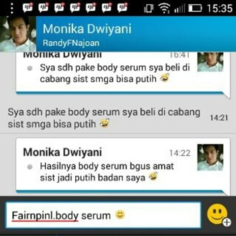 Testimoni Fair n Pink Whitening Body Serum