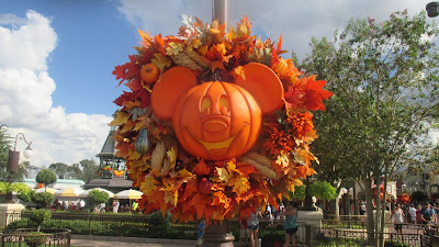 Pumpkin decoration in magic kingdom