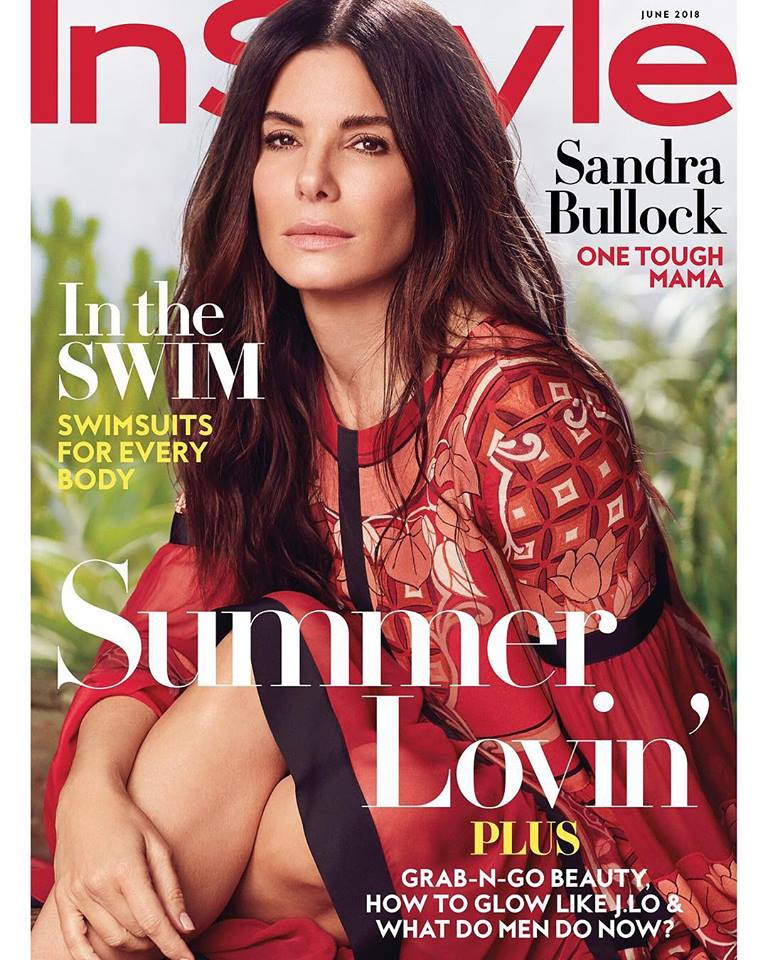 Sandra Bullock covers InStyle US June 2018