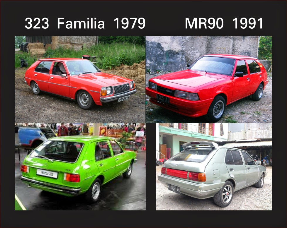 Perbangingan 323 Familia hatchback vs Mazda MR90 dan Baby Boomers