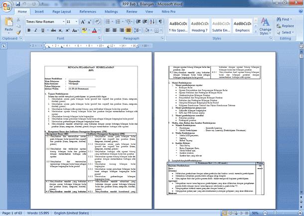 Rpp Matematika Smp Kelas 7 Kurikulum 2013 Revisi Berkas