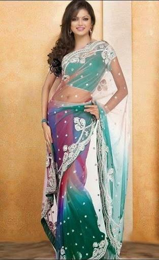 actress Drashti Dhami sexy navel side show in Saree