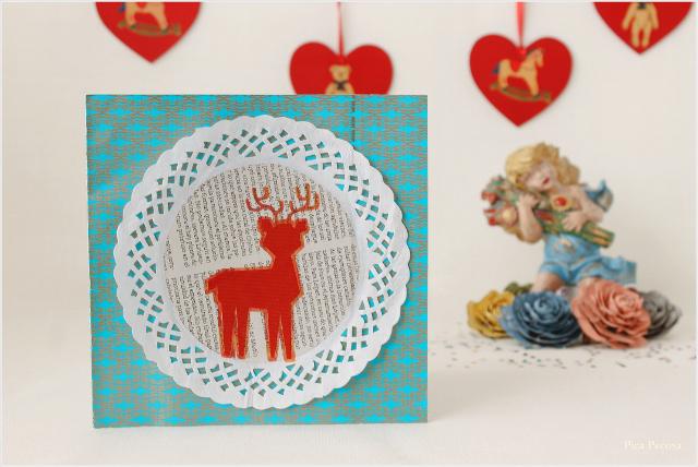 postal-navidad-diy-materiales-reciclados-reno-blonda-pastel