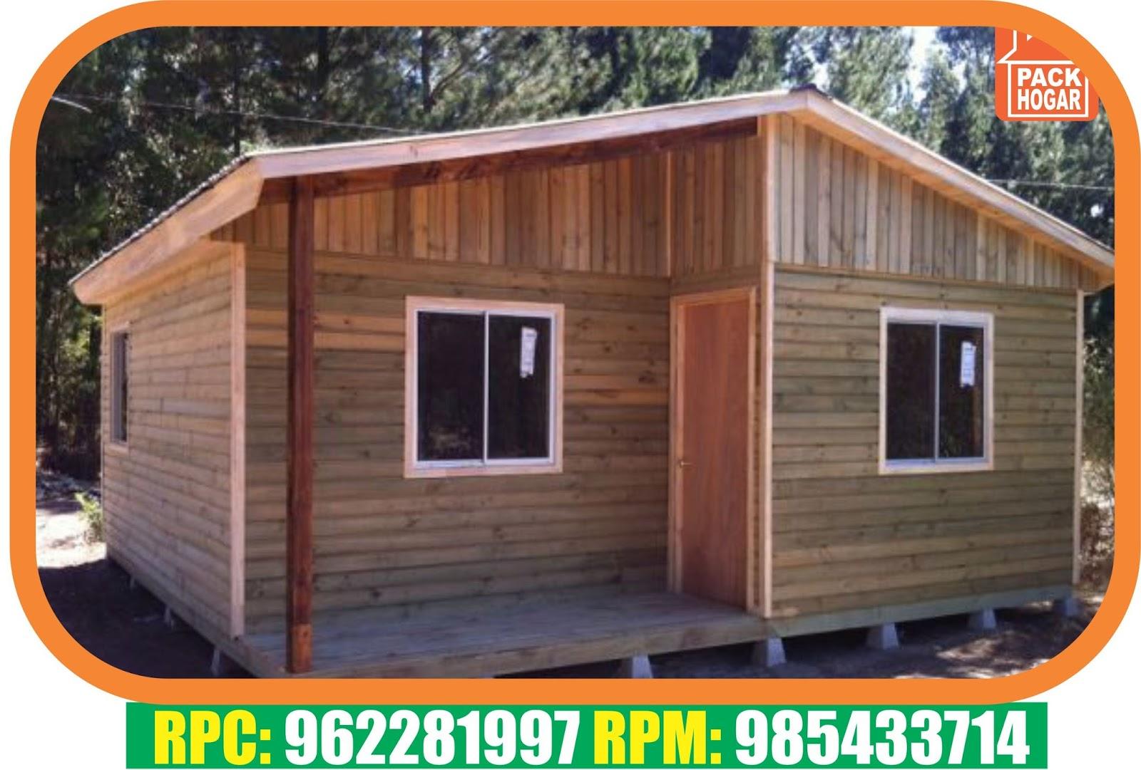 Casa de madera prefabricada 63m2 packhogar - Casa madera economica ...
