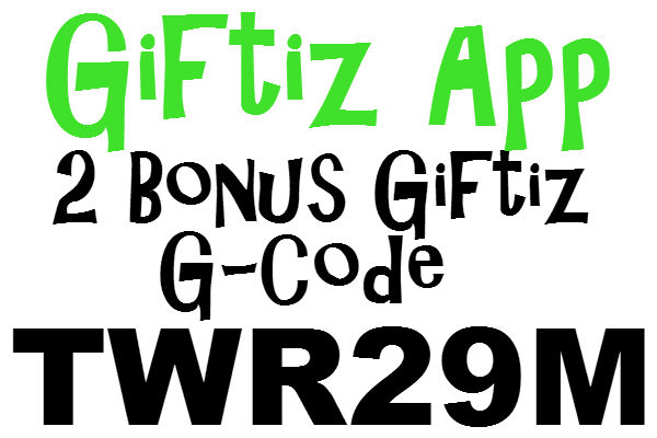 Giftiz App G-Code, 2 Giftiz Sign Up Bonus, Giftiz Rewards 2020