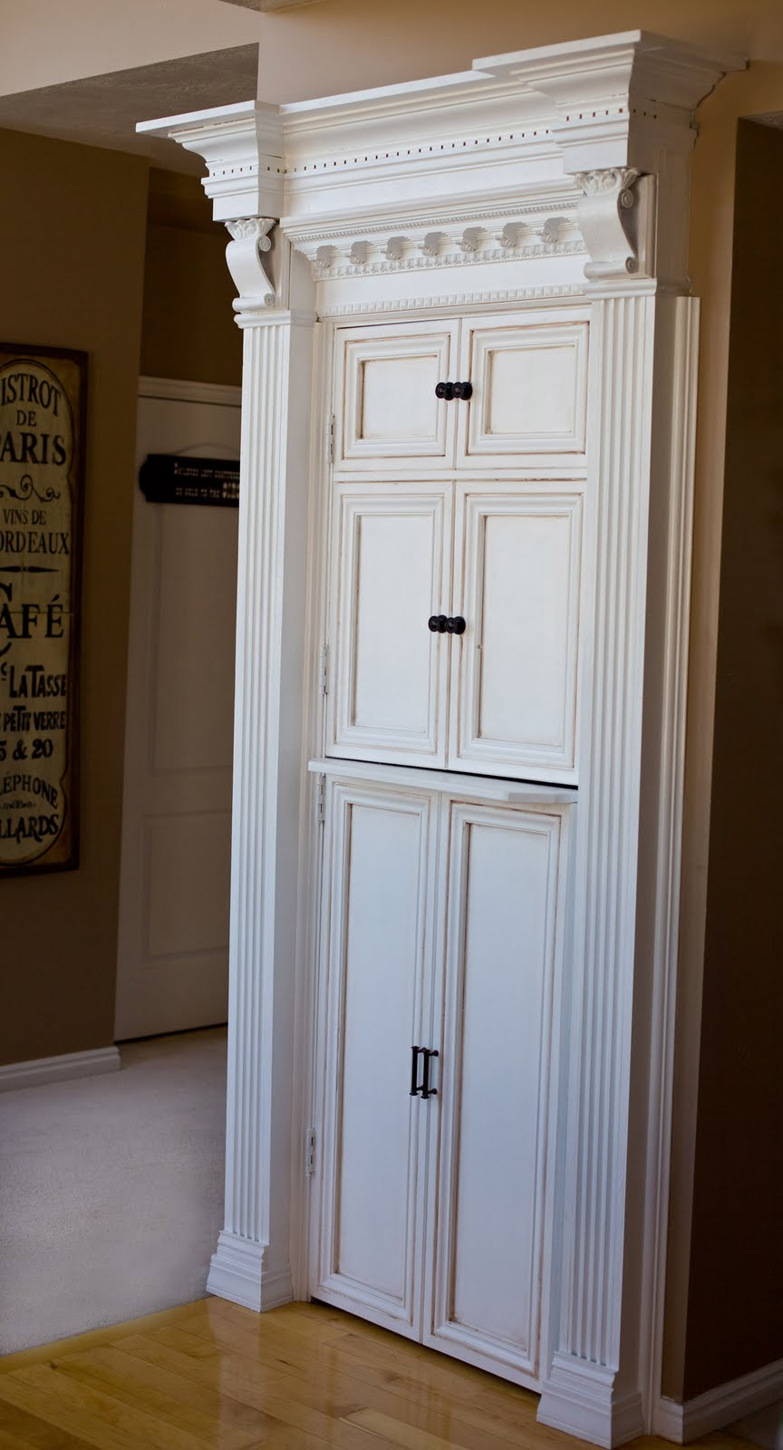Be Different...Act Normal: Faux Cabinetry Pantry Door Makeover