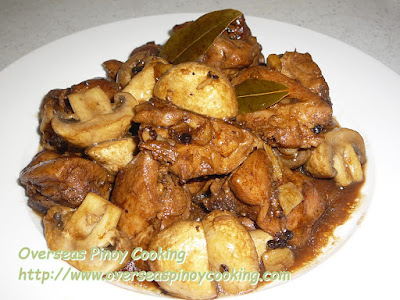 Chicken Mushroom Adobo Recipe