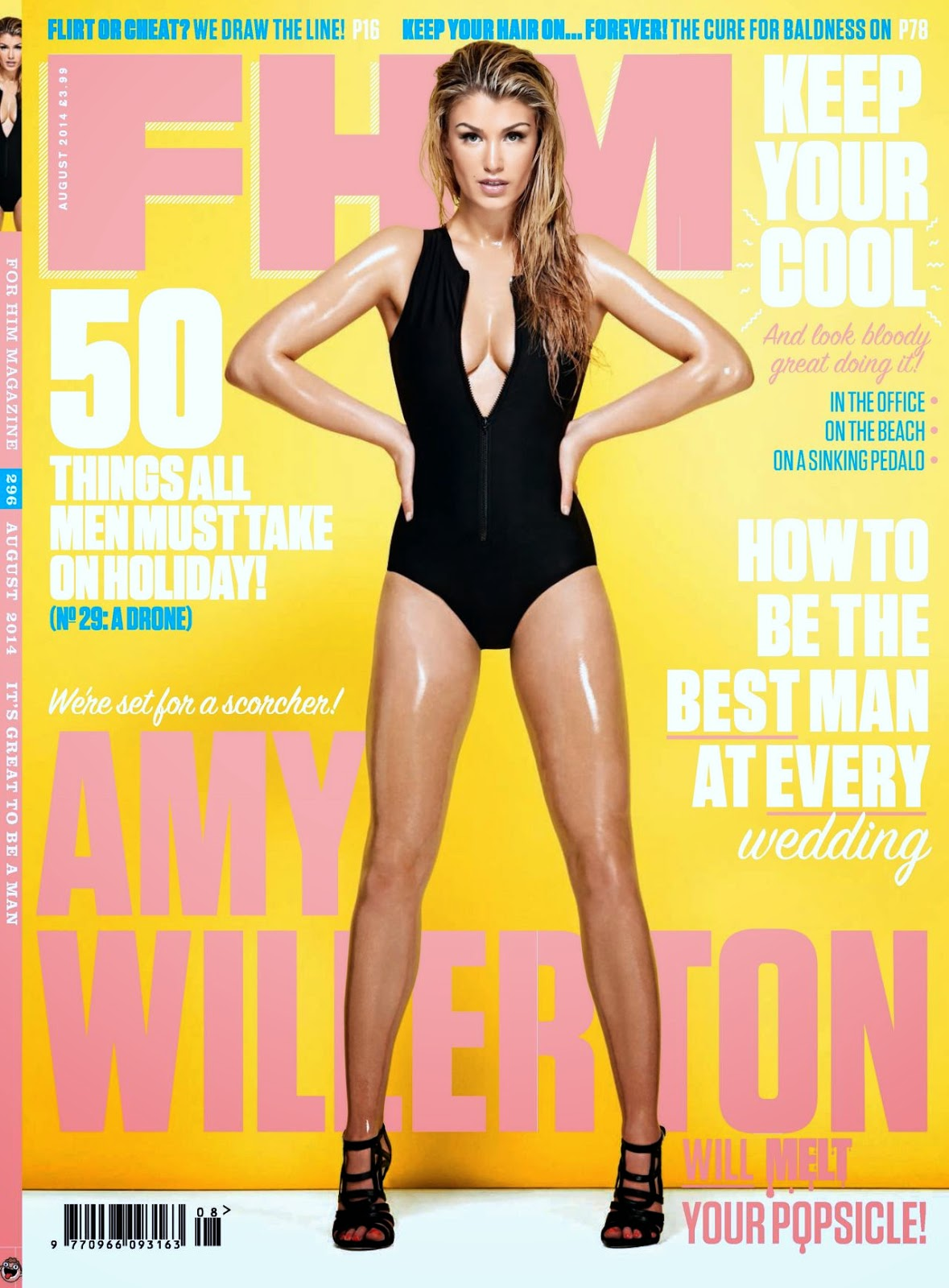 Amy Willerton covers FHM UK August 2014