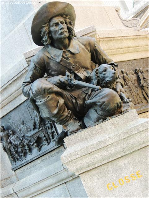Monumento a Paul Chomedey de Maisonneuve: Escultura de Lambert Closse