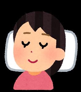 いびきをかかずに寝る人のイラスト(女性)