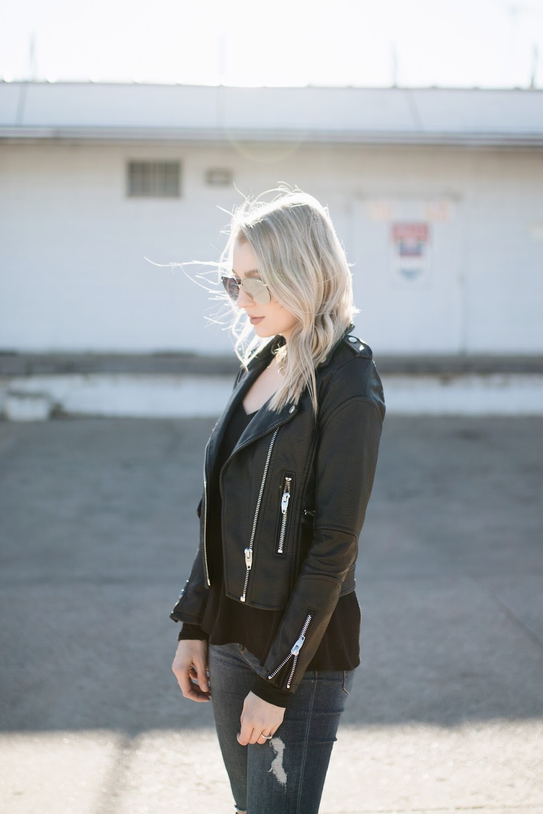 Faux leather jacket under $100