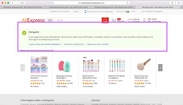 passo8: Tutorial de como fazer compras no site aliexpress (site da china)