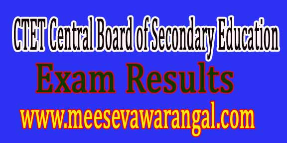 CTET Central Board of Secondary Education Exam Results 2016