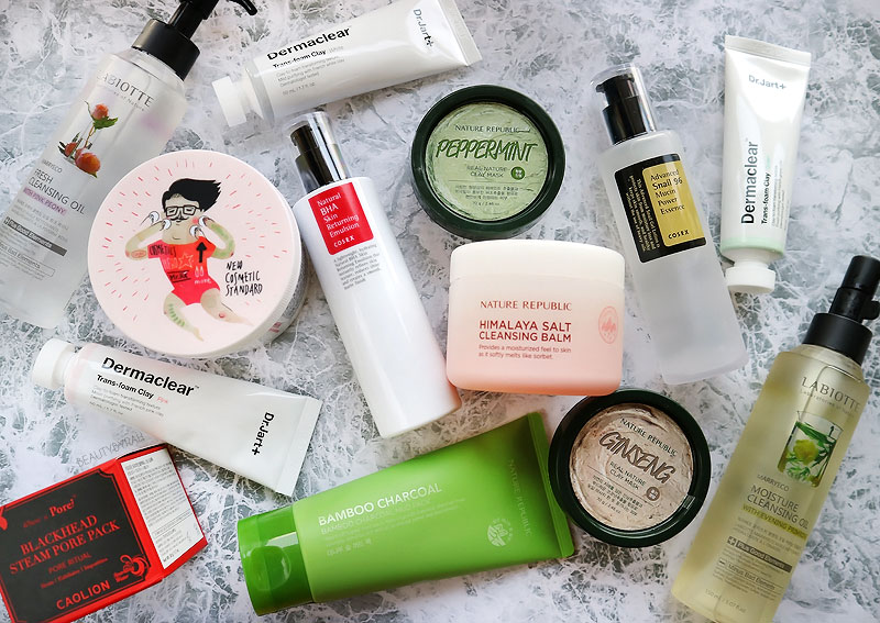 Kbeauty Makeup and Skincare Haul from Seoul, Cosrx, Nature Republic, Caolion, Labiotte