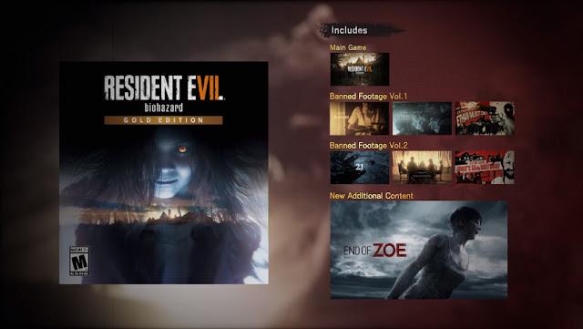 Resident Evil 'Gold Editon' llegara este 12 de Diciembre con el nuevo DLC llamado End of Zoe