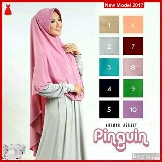 RYB133B Hijab Khimar Cantik Pinguin Murah Pad BMG Online Shop