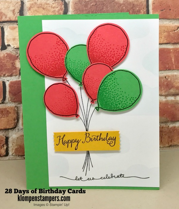 28 Days Of Birthday Cards Day 5 Klompen Stampers
