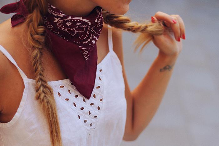 braids bandana