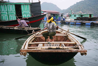 Woven boat, Halong Bay, from Boats & Rice blog