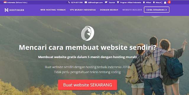Website builder di Hostinger