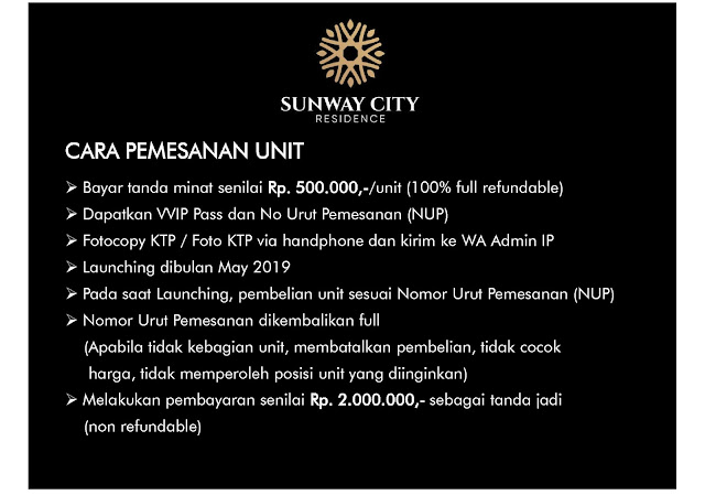 Cara Pemesanan Unit Rumah Di Sunway City Residence Hunian Dengan Nuansa Resort Terbaik Dan Terbesar Di Tanjung Morawa Medan Sumatera Utara