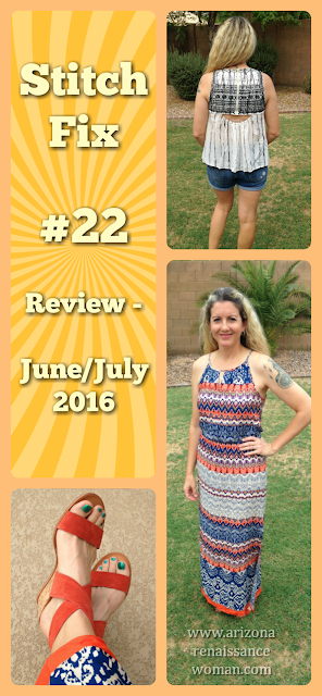 Stitch Fix #22 Review - June/July 2016 Collage