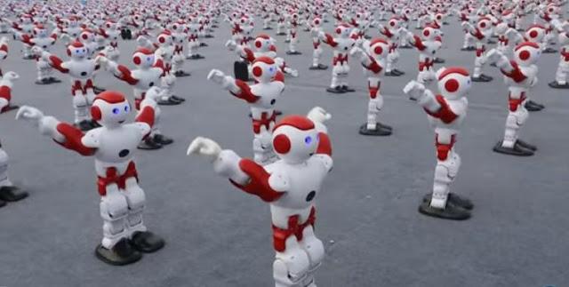 robot menari