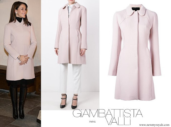 Princess Marie wore Giambattista Valli Textured Flared Coat