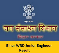 Bihar WRD Junior Engineer Result