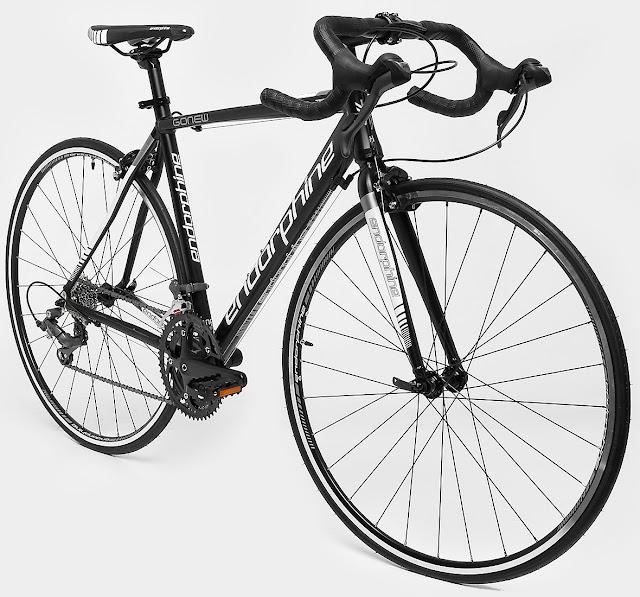 Bicicleta Speed Endorphine Gonew Fast 20 Shimano Aluminio - Aro 700 - Preto e Branco