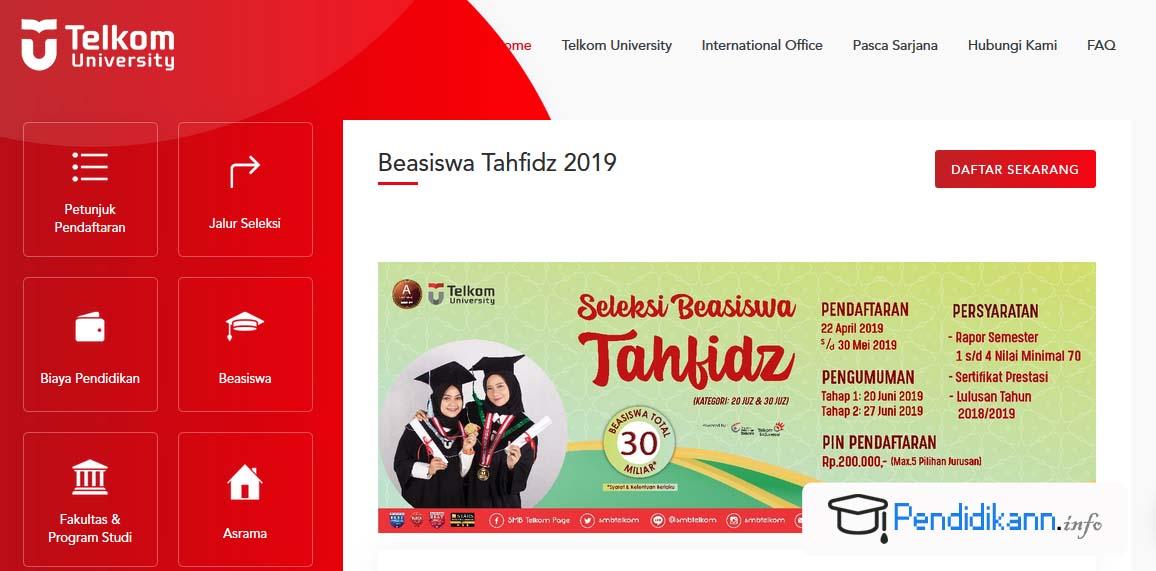 Beasiswa JPU Telkom University Jurusan Tahfidz