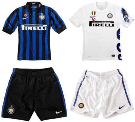 100% authentic 478cf 2c781 BLACK: Serie A: AC Milan and Inter Milan new home, away and ...