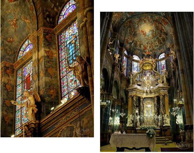 Catedral de Lugo, detalles del interior