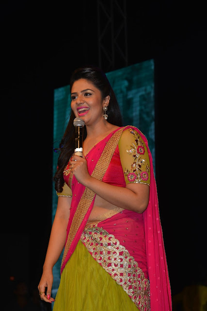 Anchor Sreemukhi HD Stills at Nenu Local Movie Audio Launch