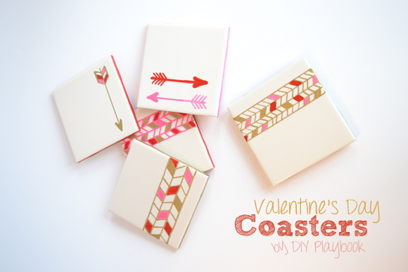 How to make Valentine's Day coasters in a tribal pattern