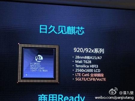 Ini Dia Plaform Kirin 920 Octa-core Penantang Snapdragon 805