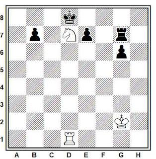 Estudio artístico de ajedrez compuesto por Leonid I. Kubbel (2º Premio, Memorial Chigorin 1938-39)
