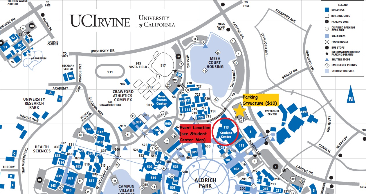 Dolly House: Directions Uc Irvine Campus Map