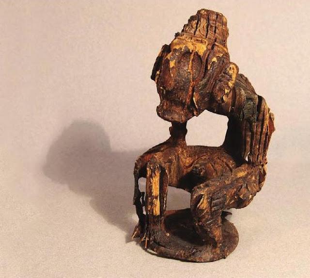 Idolo Antropomorfo, Taínos escultura de madera