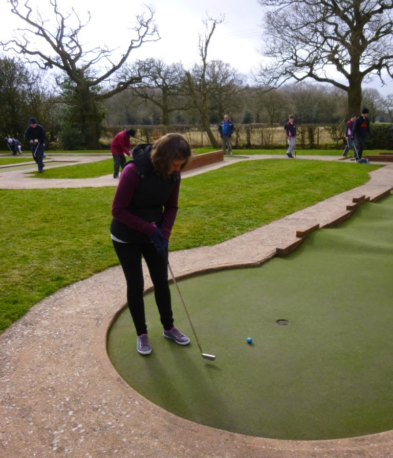 Emily Gottfried playing hole 12 at Four Ashes Golf Centre