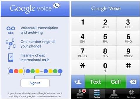 install Google Voice app