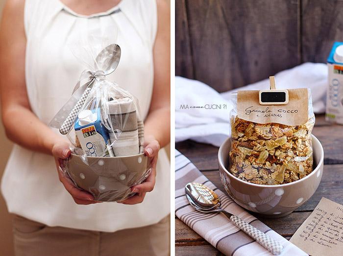 granola cocco e ananas in confezione regalo