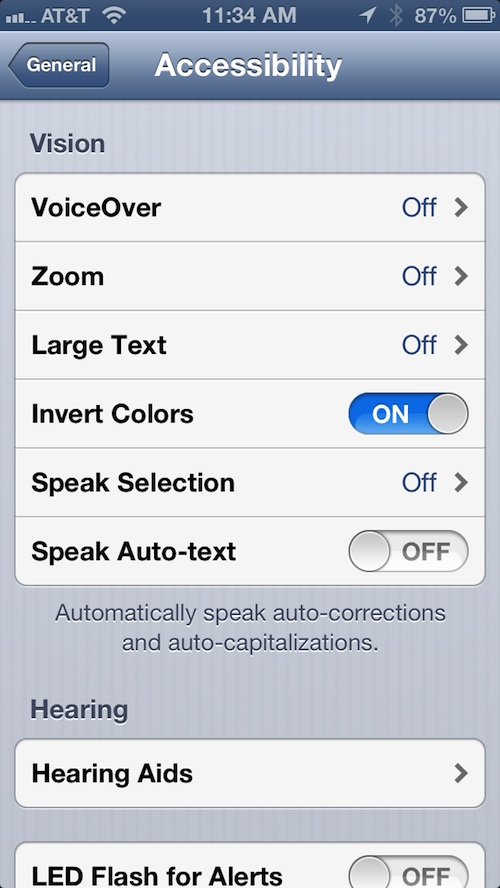 How To Easily Turn On Vision Accessibility Features In iOS