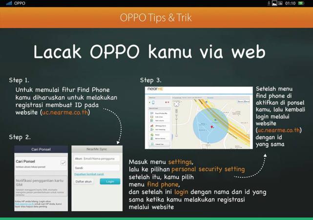 Gambar Panduan Bagaimana Cara Melacak Hp Oppo Yang Hilang Dengan Website Nearme Find Phone